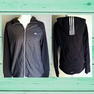 🖤 Adidas zip up Jacket / Coat with Hood